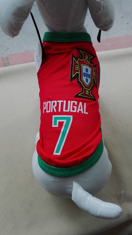 maillot portugal chien